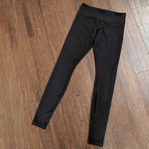 Lululemon black long leggings tights size 6